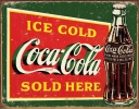 Tin Signs Coke Ice Cold Green - TSN1393