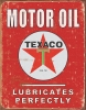 Tin Signs Texaco -Lubricates Perfectly - TSN1444