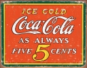Tin Signs Coke Always Five Cents - TSN1471