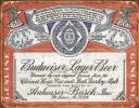 Tin Signs Budweiser Weathered - TSN1751