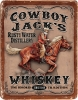 Tin Signs Cowboy Jacks Whiskey - BRK-TSN1805