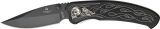 United Cutlery Nova Skull A/O Linerlock Black - UC2690