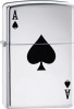 Lucky Ace Of Spades ZO24011 Polished Chrome Lighter