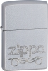 ZO24335 Scroll Windproof LighterSatin ChromeScroll