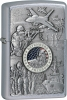 Zippo ZO24457 Joined Forces Emblem Street Chrome