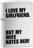 Zippo Love My Girlfriend Windproof Lighter ZO24522