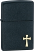 Zippo Faith Cross Lighter Black Matte ZO24721
