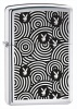Zippo Playboy Lighter Black And White Circles