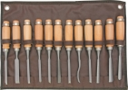 SteeleX 12 Piece Carving Chisel Set - D2227