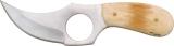 Pakistan Short Skinner Knife Smooth Bone 5 3/4 Inch