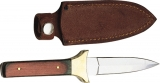 Pakistan DH-7822 Slim Boot Knife Wood Handle Brass Guard