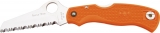 Spyderco Rescue Jr Orange knife (model SC45SOR)