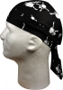 Zan Headgear White Skull and Crossbones - Z113C
