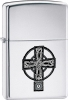 Zippo Celtic Cross 20850 Lighter High Polish Chrome